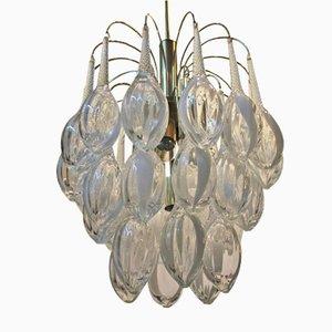 Lámpara de araña modernista vintage de cristal de Murano