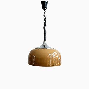 Lámpara colgante ajustable era espacial de Harvey Guzzini para Meblo, años 70