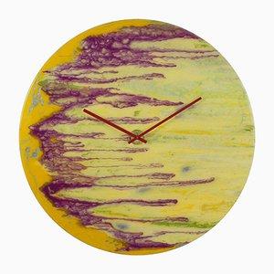 Horloge Extra Large Moderne en Verre avec Lumière par Craig Anthony pour Reformations
