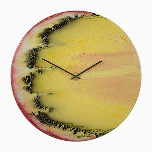 Horloge Illuminée Extra Large Moderne en Verre avec Lumière par Craig Anthony pour Reformations