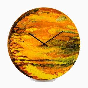 Grande Horloge Art en Verre avec Lumière par Craig Anthony pour Reformations