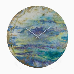 Large Illuminating Glass Art Wall Clock by Craig Anthony for Reformations