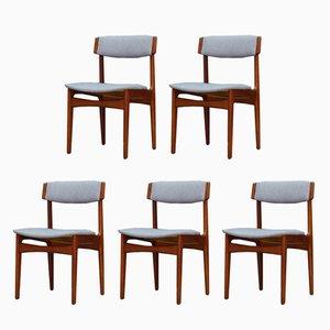 Vintage Stühle aus Teak von T.S.M, 1960er, 5er Set