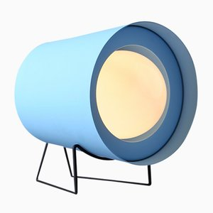 Blue Focus Table Lamp by Tree