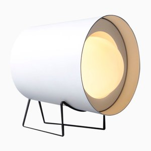 White Focus Table Lamp by Tree