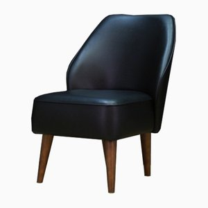 Vintage Eco-Leather Lounge Chair