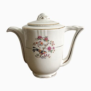 Vintage French Porcelain Teapot from Moulin des Loups Orchiles