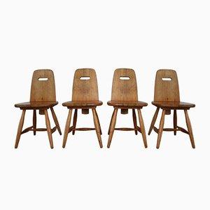 Chaises de Salle à Manger Pirrti Vintage en Pin par Eero Aarnio pour Laukaan Puu, Set de 4