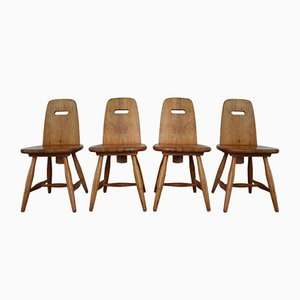 Vintage Pirrti Pinewood Dining Chairs by Eero Aarnio for Laukaan Puu, Set of 4