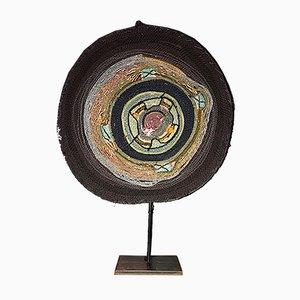 Italienische Tischlampe mit gewebtem Gehäuse von Carla Rotim, 2000