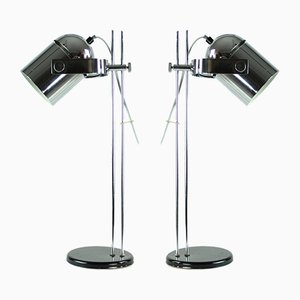 Chrome Combi Lux Table Lamps by Stanislav Indra for Lidokov, 1960s, Set of 2