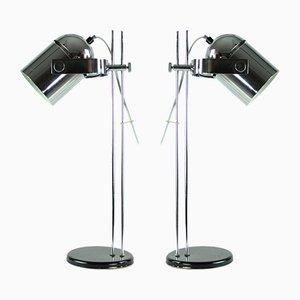 Lámparas de mesa Combi Lux de cromo de Stanislav Indra para Lidokov, años 60. Juego de 2