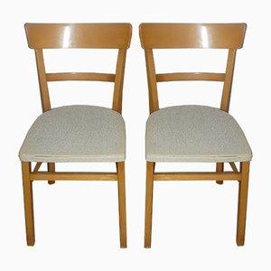 Weiße Küchenstühle, 1950er, 2er Set