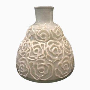 Vase aus Muranoglas & Gummi mit Blumenmuster, 1980er