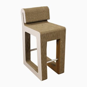 Italienischer Stuhl aus Plastik, Metall & Karton, 1980er