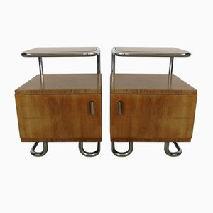 Steel Pipe Bedside Tables from Kovona, 1950s, Set of 2