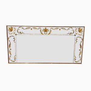 Large Vintage Floral Mirror