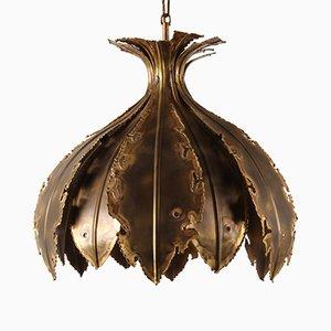 Lampe à Suspension Onion Modèle 6395 Vintage en Laiton par Svend Aage Holm Sørensen pour Holm Sørensen & Co