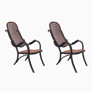 Antike Armlehnstühle von Thonet, 2er Set