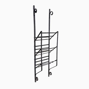 Antique Wrought Iron Magazine Rack