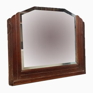 Specchio grande Art Déco in quercia, anni '30