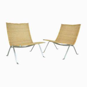 PK22 Easy Chairs by Poul Kjaerholm for E. Kold Christensen, 1950s, Set of 2