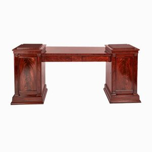 Antique Mahogany Pedestal Sideboard