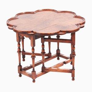 Tavolino da caffè pieghevole in noce, anni '10