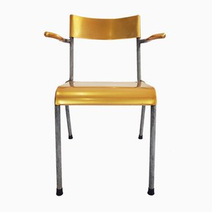 Schweizer stapelbarer Vintage Outdoor-Stuhl, 1950er