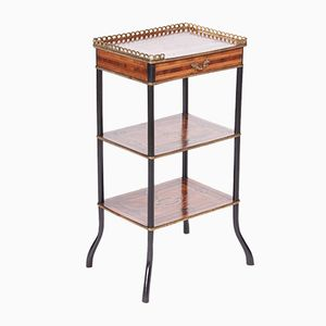 Antique French Marquetry Side Table, 1880s