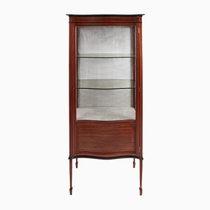 Antique Edwardian Inlaid Mahogany Display Cabinet