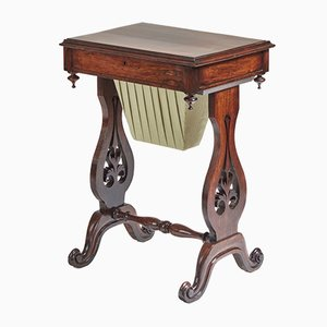 Victorian Rosewood Freestanding Side Table, 1850s