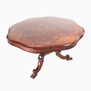 Burr Walnut Shaped Centre Table, 1850s