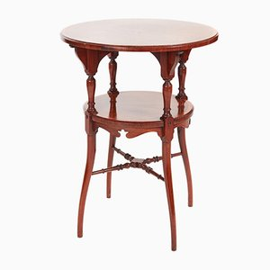 Inlaid Rosewood Two-Tier Occasional Table, 1900s
