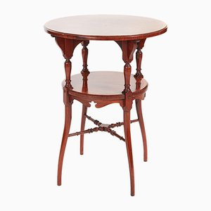 Antique Inlaid Rosewood 2-Tier Occasional Table