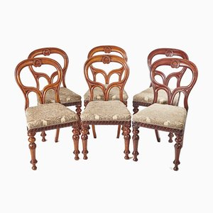 Scottish Mahogany Dining Chairs, 1860s, Set of 6