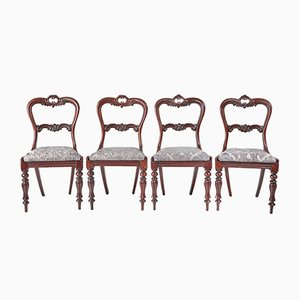 Victorian Rosewood Dining Chairs, Set of 4