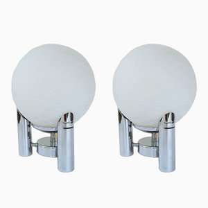 Mid-Century Modern Italian Table Lamps by Carlo Ratti, Set of 2