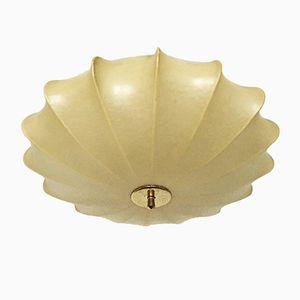 Italian Cocoon Ceiling Lamp, 1950s