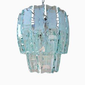 Lampadario Mid-Century in vetro di Murano