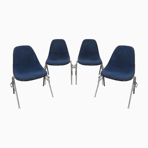 Vintage DSS Side Chairs by Charles & Ray Eames for Vitra, 1950s, Set of 4