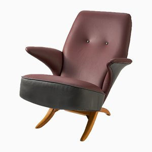 Vintage Dutch Penguin Lounge Chair by Theo Ruth for Artifort, 1950s