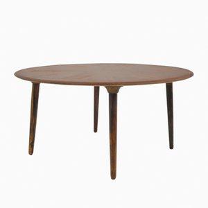Table Basse Ronde par Johannes Andersen pour CFC en Soieeborg, 1950s