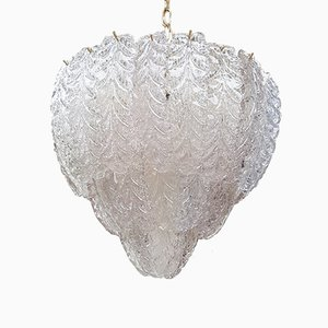 Lámpara de araña moderna Mid-Century de cristal de Murano