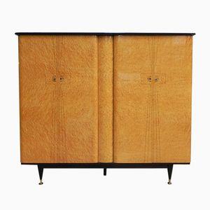 Large Vintage Birds Eye Maple Veneered Cabinet, 1950s