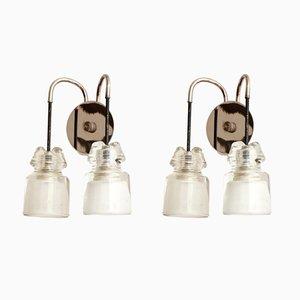 Italienische Vintage Wandlampen, 1950er, 2er Set