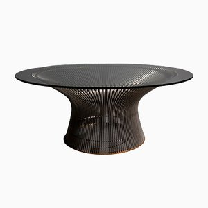 Table Basse Vintage en Verre par Warren Platner pour Knoll International, 1960s