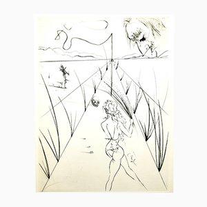 Incisione Venus in Furs firmata con timbro di Salvador Dali, 1968
