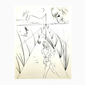 Venus in Furs Stamp-Signed Etching by Salvador Dali, 1968