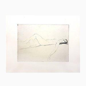 Aguafuerte de mujer de Jean Gabriel Domergue, 1924